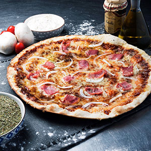 Barbacoa ceba bacon - Vitali Pizza - Delivery - Lliurament i repartiment de pizzes a domicili a Barcelona