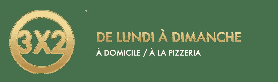 Offre 3x2 - Vitali Pizza - Delivery - Livraison à domicile à Barcelone